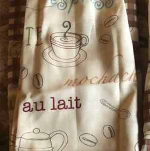 "Better Homes And Gardens Accents - Better Homes & Gardens Coffee Curtains 60"" X 36"""
